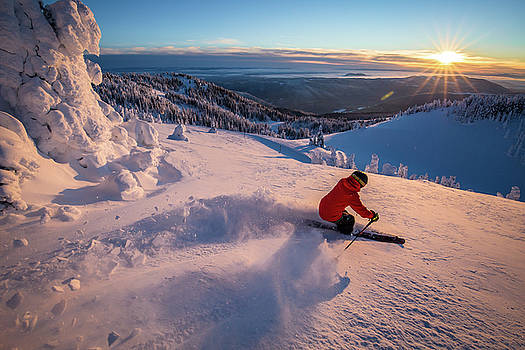 Sunset Skier #2 by Sam Egan