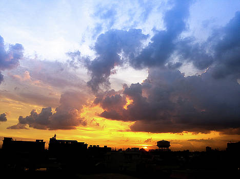 Sunset sky by Atullya N Srivastava