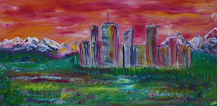 Sunset Skyline by James Bryron Love