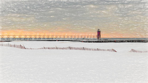 Susan Rissi Tregoning - Sunset Snow Storm