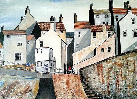 Sunset staithes by Trudy Kepke