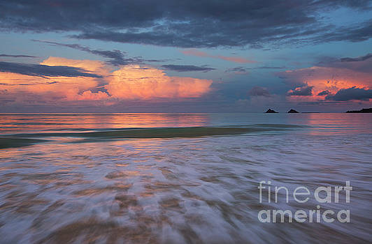 Charmian Vistaunet - Sunset Storm Clouds over Kailua Beach