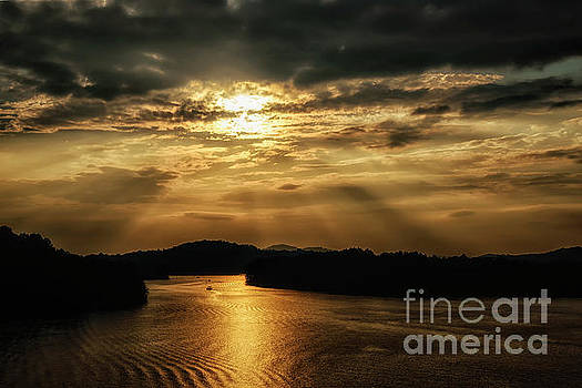 Sunset Summersville Lake by Thomas R Fletcher