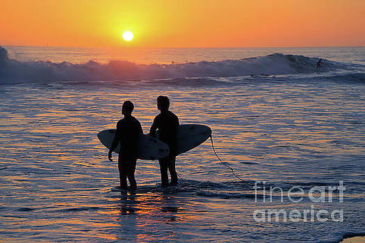 Sunset Surf by E Williams