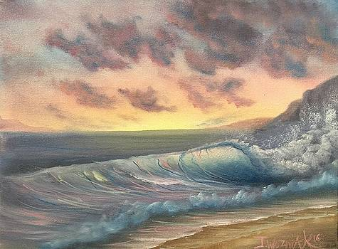 Sunset surf  by Paintings by Justin Wozniak