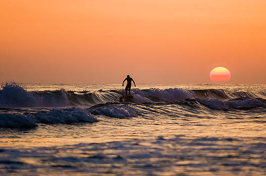 Sunset Surfer by Kurt Lischka