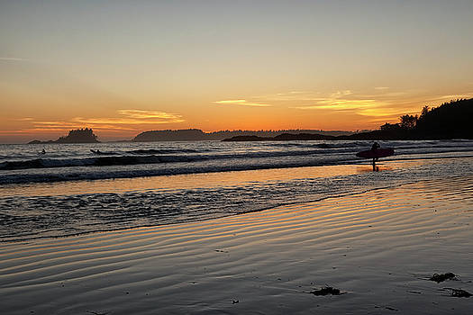 Sunset Surfers by Eunice Gibb