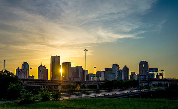 Sunset through Dallas by Stephanie Johnson