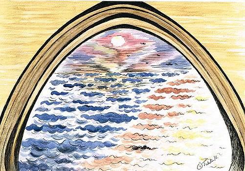 Sunset Through The Stone Arche by Teresa White