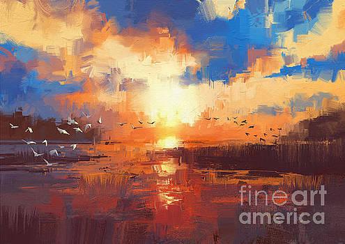 Sunset by Tithi Luadthong