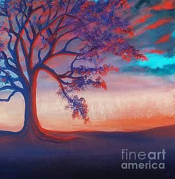 Sunset Tree by Cynthia Vaught