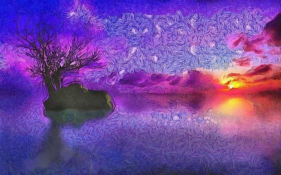 Sunset Tribute to Van Gogh by Maciek Froncisz