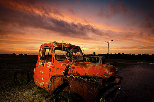 Sunset Truck by Notley Hawkins