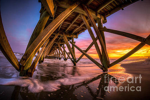 Sunset Under the Pier by David Smith