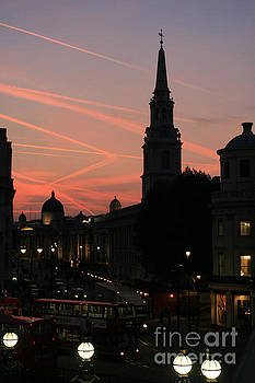 Sunset View from Charing Cross  by Paula Guttilla