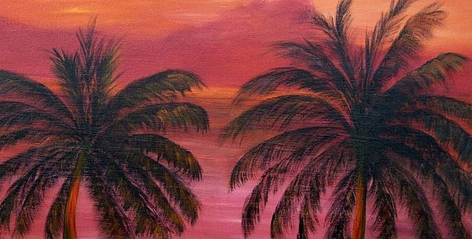 Sunset View from the Balcony SOLD by Susan Dehlinger