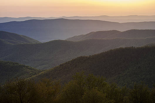 Lauren Brice - Sunset View from the Skyline Drive