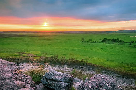 Sunset view from Ubirr Rock -NT, Australia by Daniela Constantinescu
