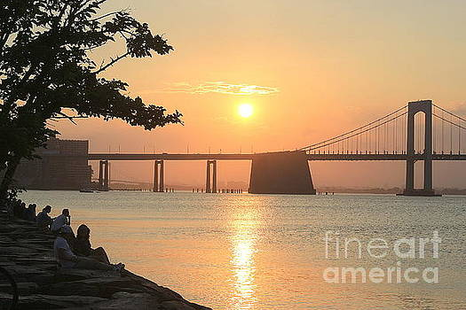 Sunset Watching by the Bay by Dora Sofia Caputo Photographic Art and Design