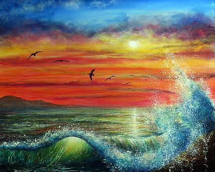 Sunset Wave by Ann Marie Bone