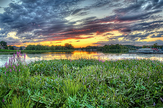 Sunset West Crooked Lake by Jenny Ellen Photography