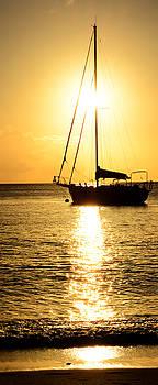 Sunset. White Sands. St. Lucia. by Alex Kossov