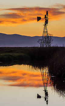 Sunset Windmill by Bruce Bottomley