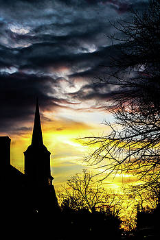 Lisa Lemmons-Powers - Sunset with Church Steeple