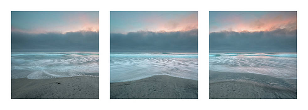 Sunset with Marine Layer Triptych by Alexander Kunz