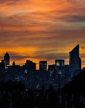 Sunset with skyline by Terepka Dariusz