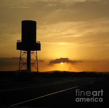Gregory Dyer - Sunset with Water tower