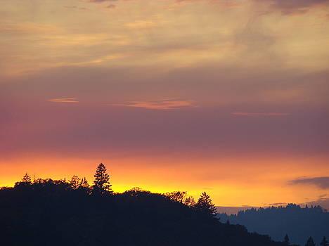 Baslee Troutman - SUNSET Yellow Orange Purple Sunset Giclee Art Prints Baslee Troutman