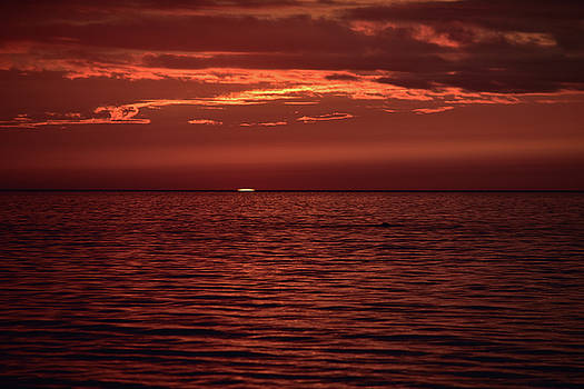Sunset's Final Sliver by Maria Keady