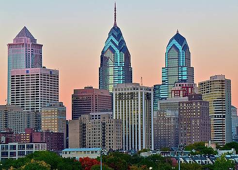 Sunsets Glow in Philly by Frozen in Time Fine Art Photography