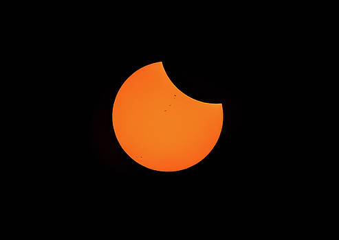 Sunspots and Eclipse by Marc Crumpler