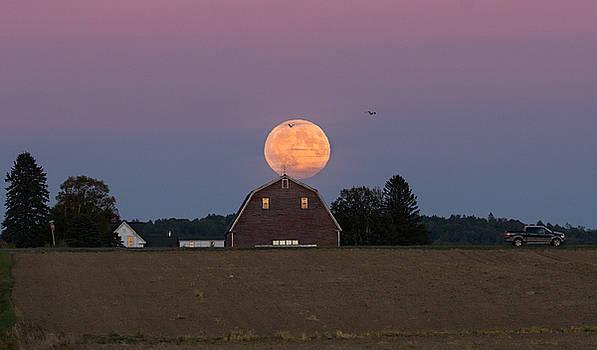 Super Blood Moon Rise by Jeff Clark