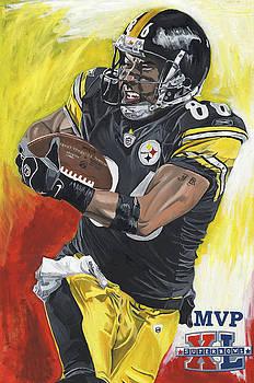 Super Bowl MVP Hines Ward by David Courson