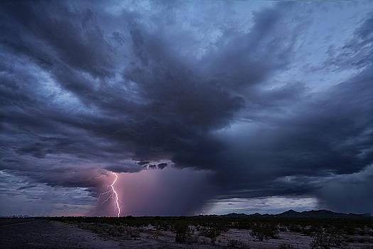 Super Cell in the Sonoran  by Saija Lehtonen