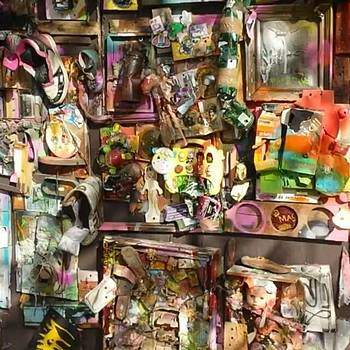Super Cool #streetart. Toys Stuck To by Dante Harker
