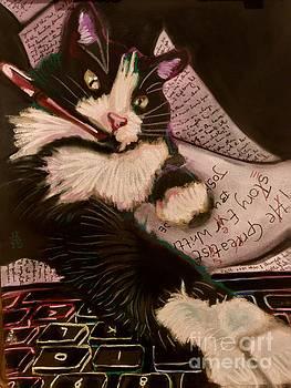 Super Helpful Editing Cat by Tiffany Brazell