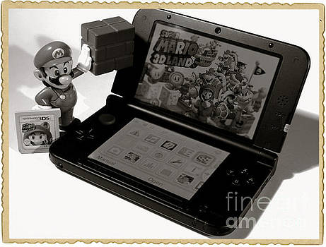 Super Mario Black and white by Stefano Senise