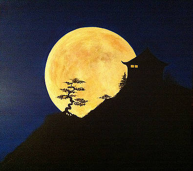 Super Moon - Kyoto  Japan by Anees Peterman