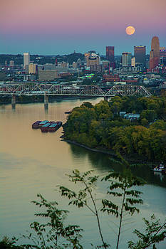 Randall Branham - super moon cincinnati river