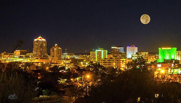 Super Moon Over Albuquerque by Richard Estrada