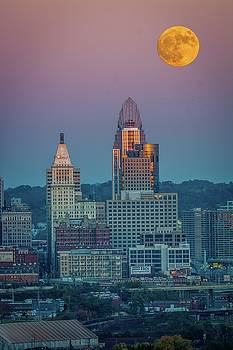Randall Branham - Super Moon over Great American City