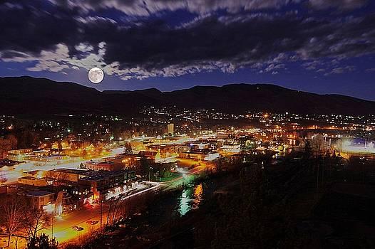 Super-moon Over Steamboat by Matt Helm
