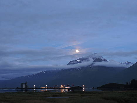 Super Moon over Valdez, Alaska by Denise   Hoff