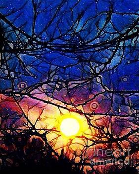 Super Moon Setting by Karen Newell