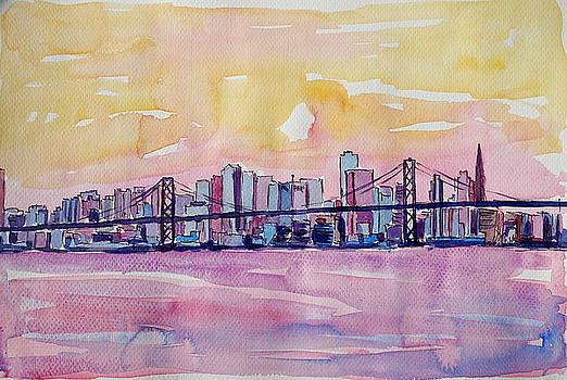 Super San Francisco Skyline In Bay Area Dreams by M Bleichner