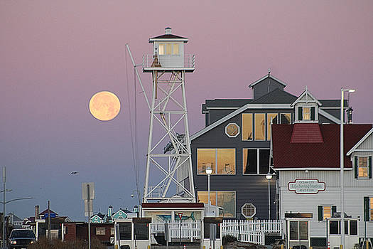Super Wolf Moon At The Watch Tower by Robert Banach